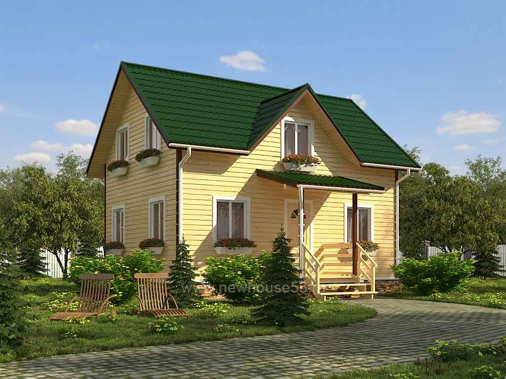 Каркасный дом от 50 до 100 кв.м