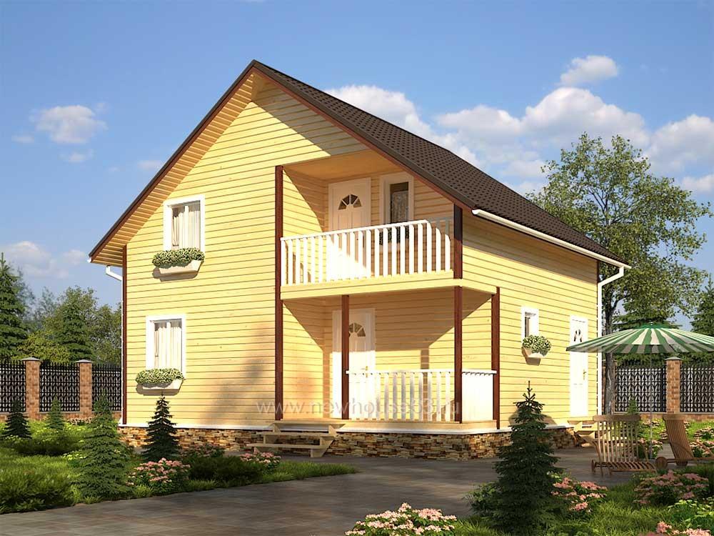 Каркасный дом 7х9м