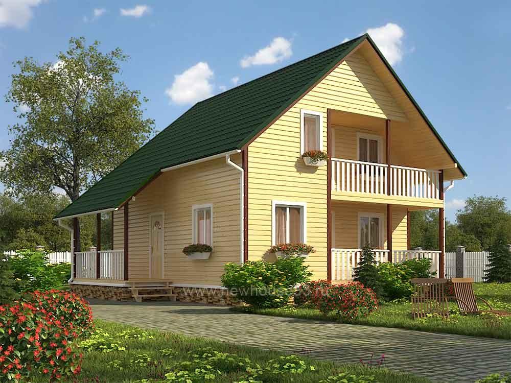 Каркасный дом 9х9.5м