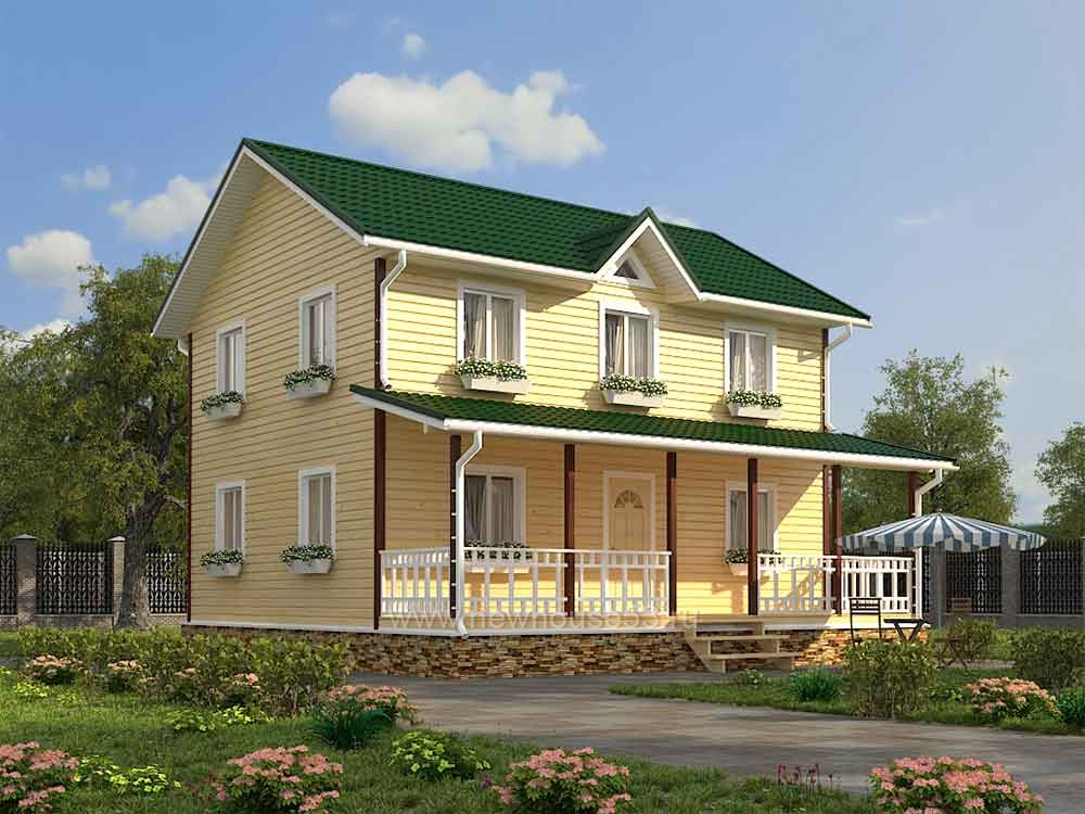 Каркасный дом 9х9м