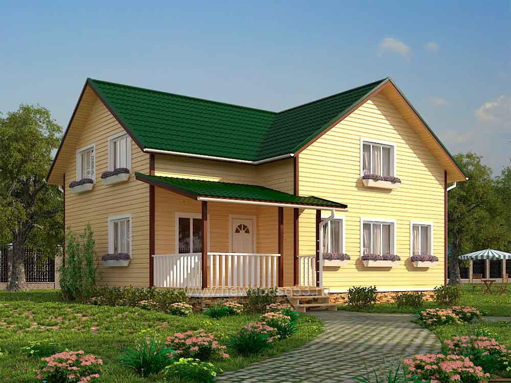 Каркасный дом 11х11м