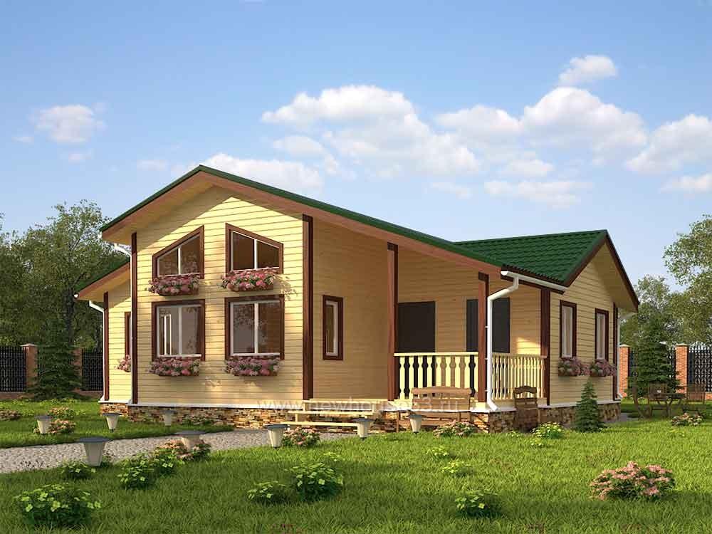 Каркасный дом 12х13м