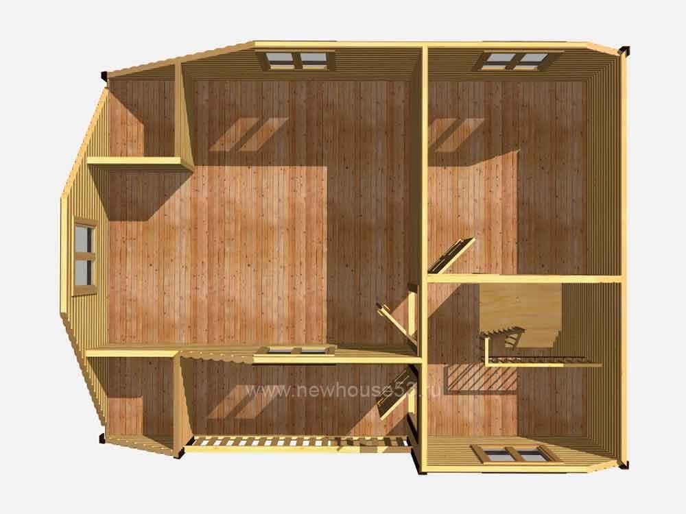 Готовые каркасные дома под ключ недорого